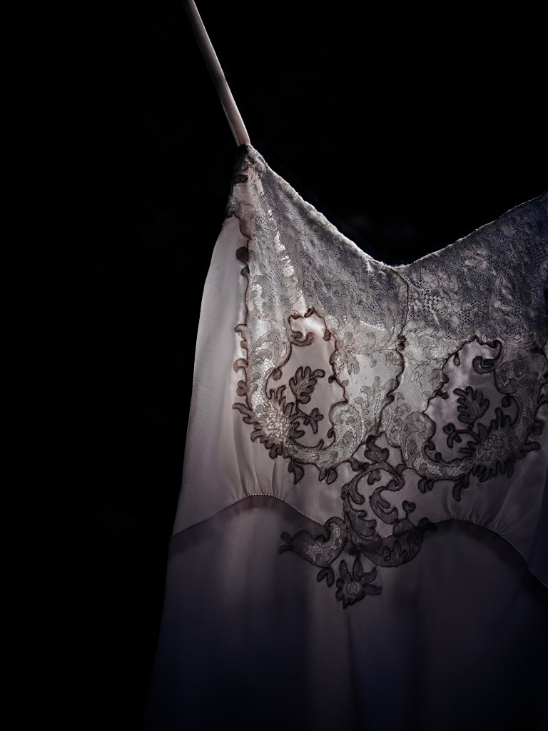 Pale Pink Gown, Lace Detail