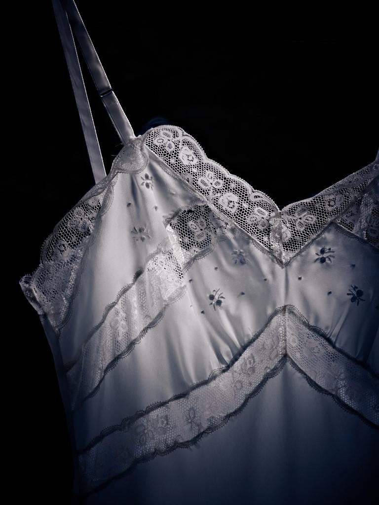 Pale Blue Gown, Bodice Detail