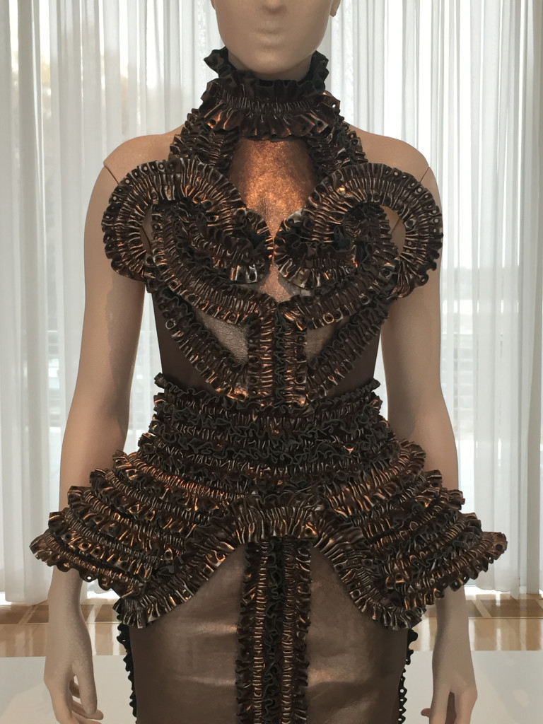 Dress with Motorcycle Chain and Grommets