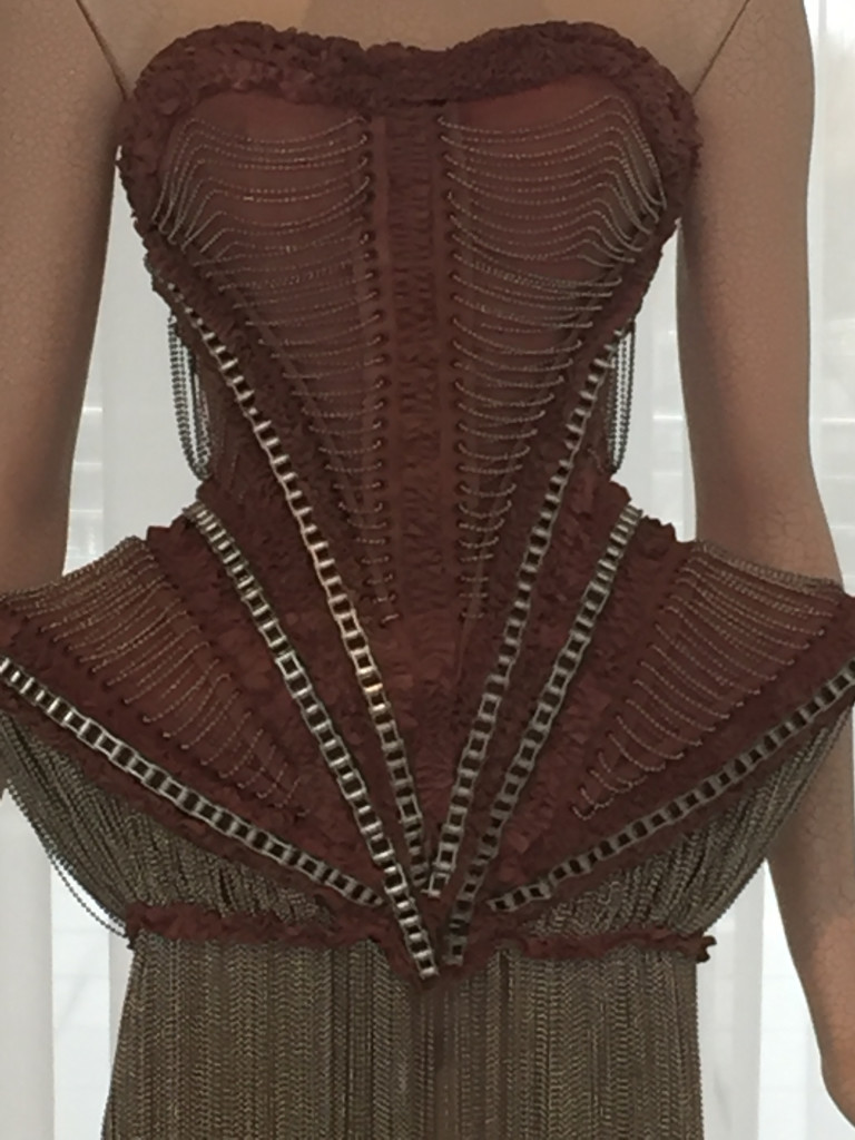 Bodice Detail with Bike Chain