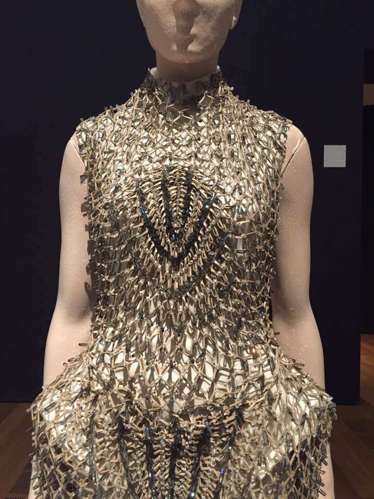 Dress with Metal and Crystals