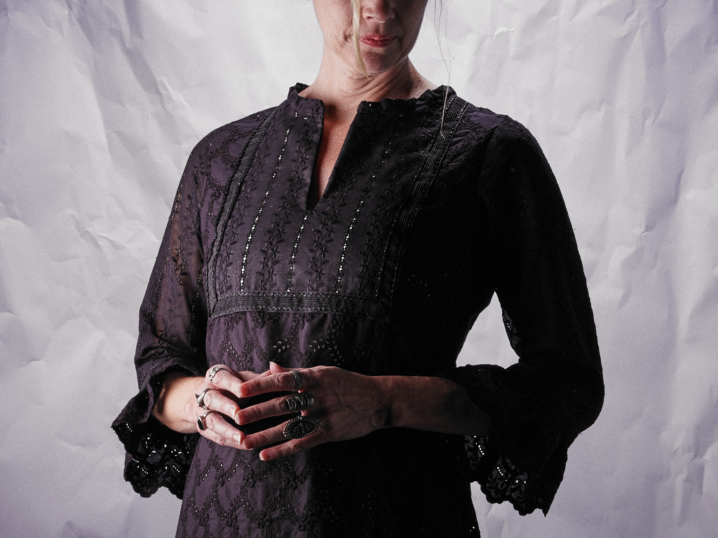 Tunic Detail, Placket and Sleeves