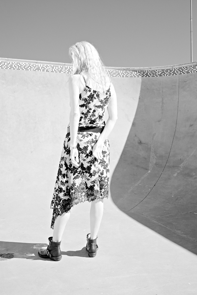 Lace Dress in Skate Park